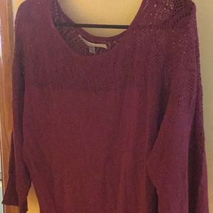 Lauren Conrad sweater- raspberry S